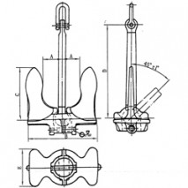 Baldt Stockless Anchor