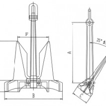 HHP(HY-14) Stockless Anchor