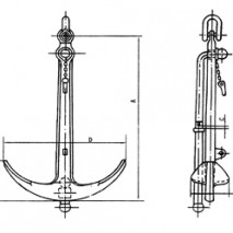 GB545-96 Admiralty Anchor
