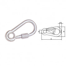 Snap Hook With Eyelet And Screw,Zinc Plated