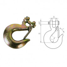 Clevis Slip Hooks With Latches