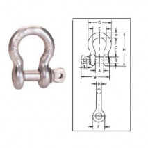 Screw Pin Anchor Shackles G-209