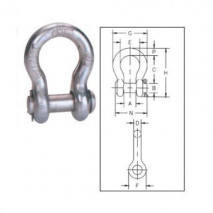 Round Pin Anchor Shackles G-213