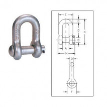 Round Pin Chain Shackles G-215