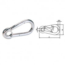 Snap Hook With Eyelet,Zinc Plated